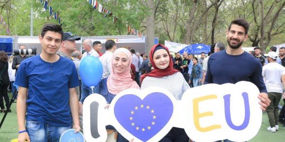 الاحتفال بيوم اوروبا في نابلس 2019