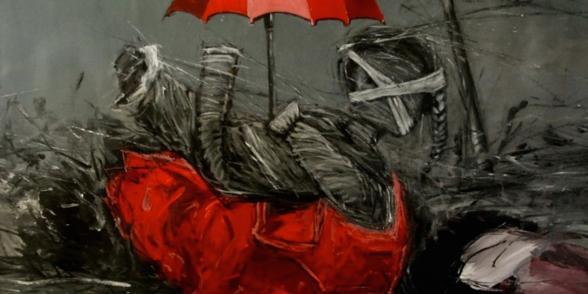 محمد جحا، حلم بالأبيض والأسود، أكريليك على قماش، ٢٠١١