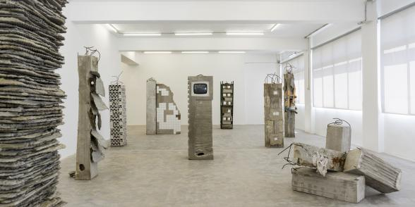 Marwan Rechmaoui, But the trees kept voting for the axe, 2021 Exhibition view Courtesy of the artist and Sfeir-Semler Gallery Beirut/Hamburg