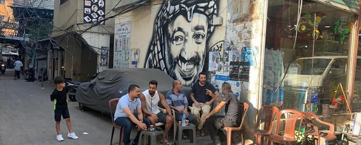 أحد المخيمات الفلسطينية في لبنان. زهراء الأمير، سبوتنيك