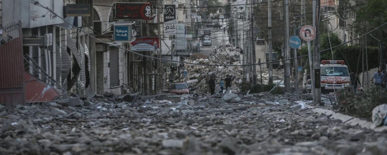 حي الرمال في قطاع غزة - رويترز
