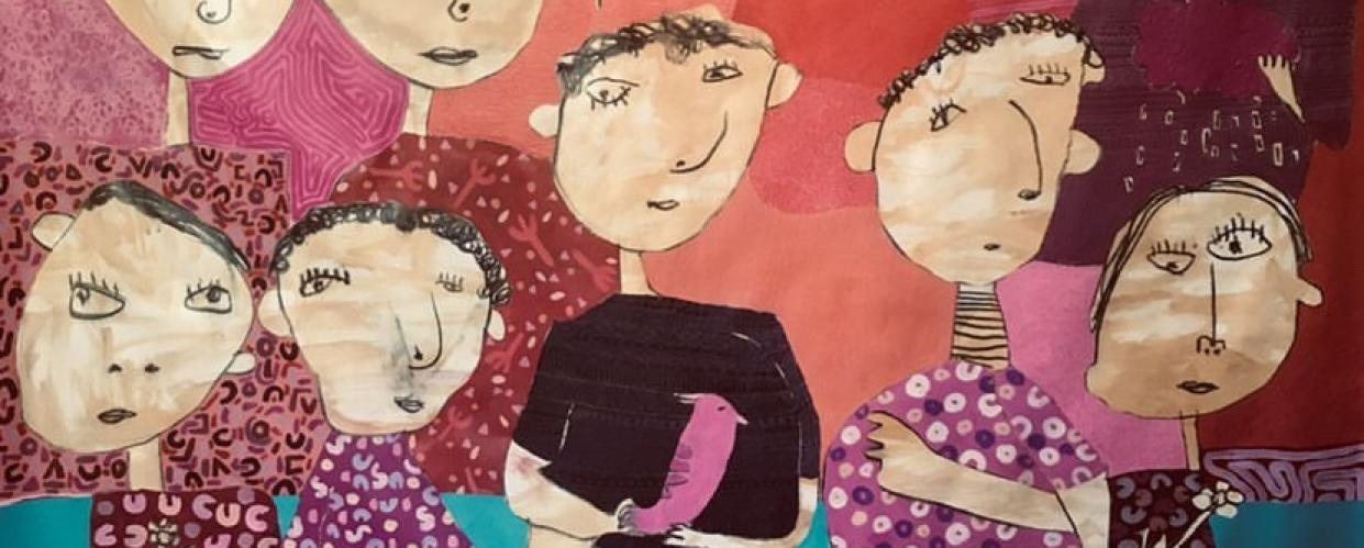لوحة للفنان ابراهيم جوابرة