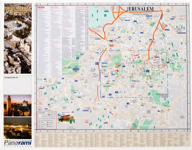 Mapping divided cities and their separation walls berlin and figure 7a jerusalem city map 20062007 produced by rami meroz source cornell university artstor gumiabroncs Image collections